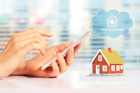 Home security system Banque d'images