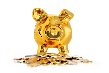 Piggy bank isolated over white. Banque d'images