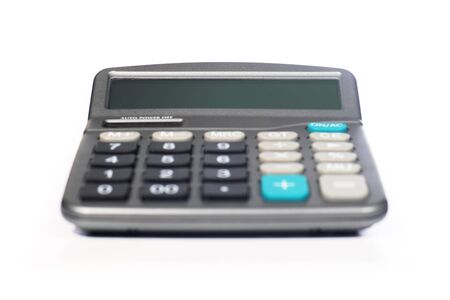 Calculator isolated over white Banque d'images