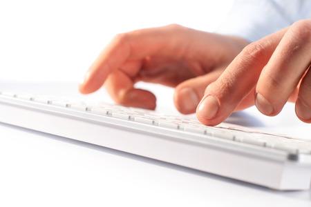 Typing on keyboard