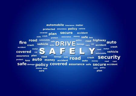 Drive safety concept. Secure driving,
