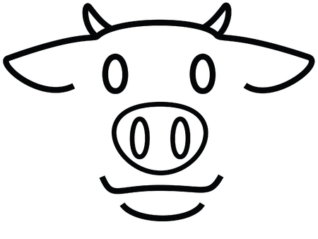 Young cow  Vector