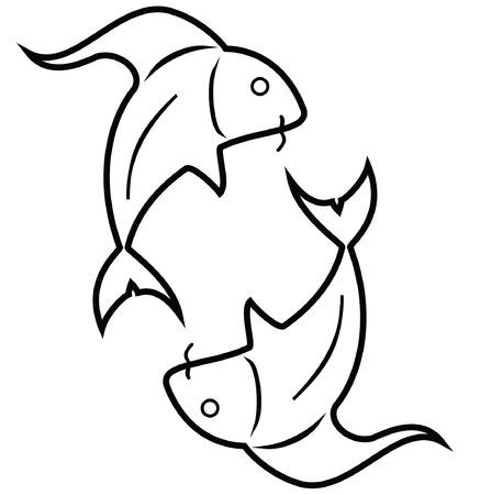 predict: Pisces - Fishes Illustration