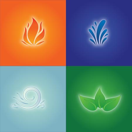 Four Elements Stock fotó - 25331612