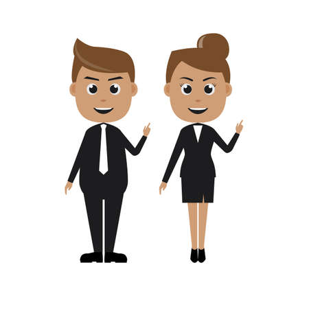 charactor: Vector illustration of businessman and businesswoman charactor