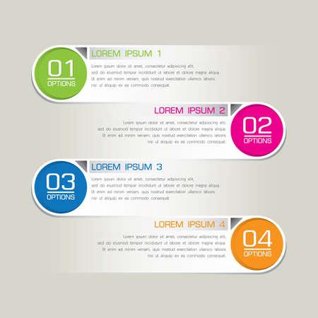 Modern Business step options  Vector illustration