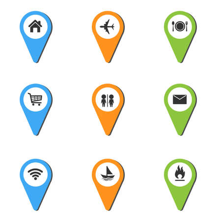Vector illustration of Pin Place Icon