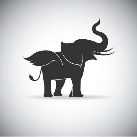 Het silhouet van de Vleugels van de olifant