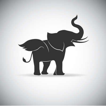 proboscis: Silhouette Wings Elephant Illustration