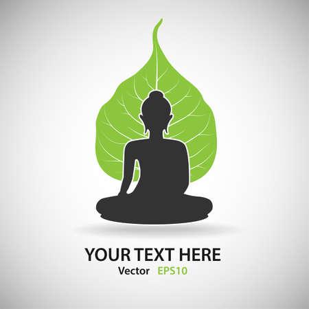 buddha image: Buddha with Bodhi Illustration