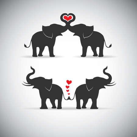 Silhouette Liebhaber ein Elefant