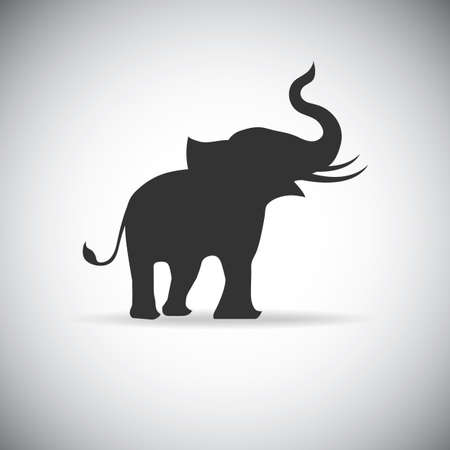 animal silhouette: silhouette elephants