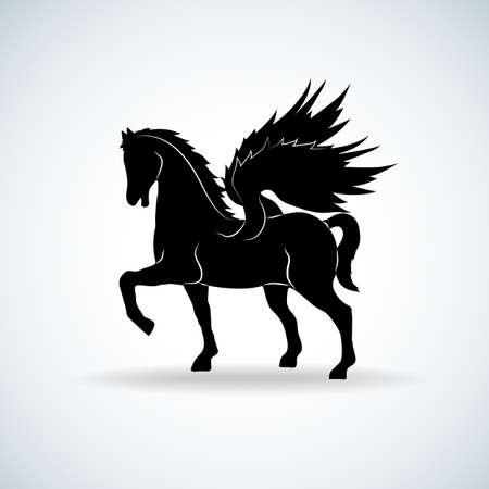 hobby horse: Pegasus silhouette Illustration