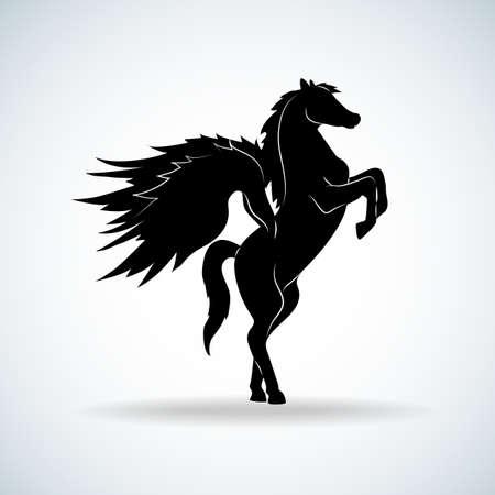 pegasus: silueta de Pegasus Vectores