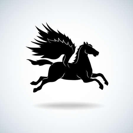 Pegasus silhouette 矢量图像