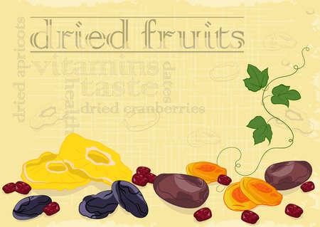 frutas deshidratadas: Fondo secado de las frutas