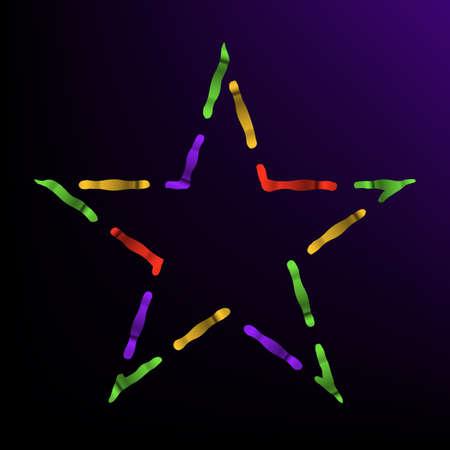 Magical vector star, bright colors. Illusztráció