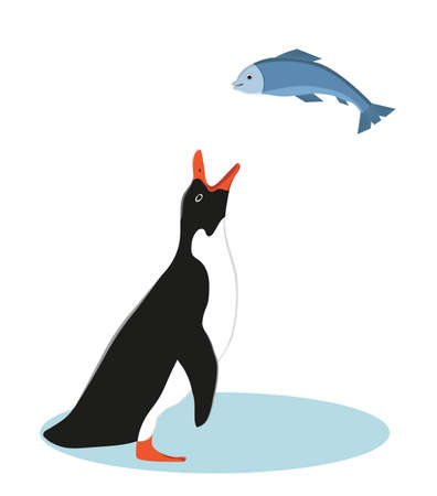 Penguin and Fish.