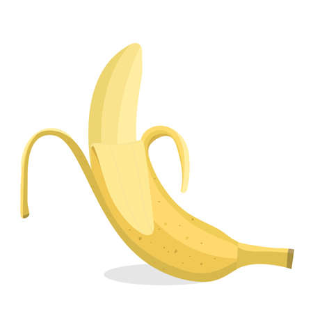 Banana. Vector flat illustration. Isolated on white. Illusztráció
