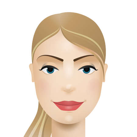 Woman avatar. Woman face. Vector illustration.