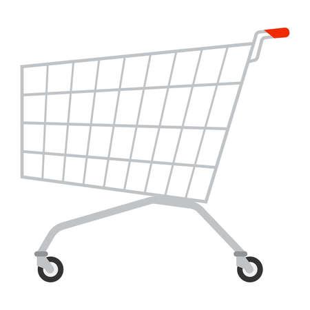 Shopping cart. Isolated on white. Vector illustration.
