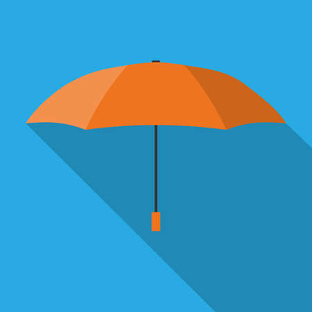 Umbrella. Vector flat illustration.