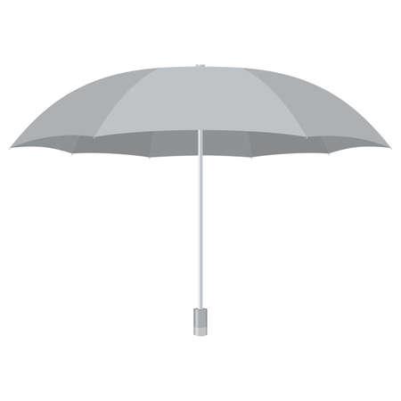 Silver umbrella. Isolated on white. Vector illustration. 写真素材 - 126495014
