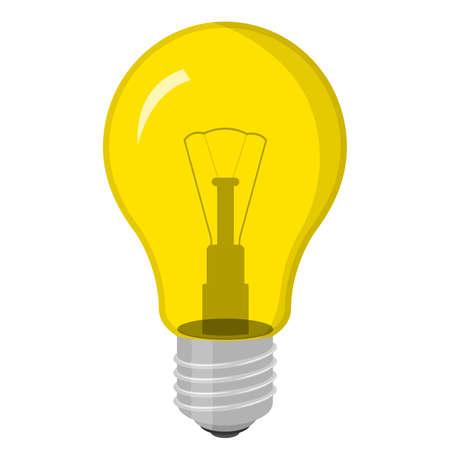 Light bulb. Isolated on white. Vector illustration.  イラスト・ベクター素材