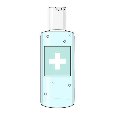 Alcohol gel hand sanitizer. Isolated on white background. Vector illustration.