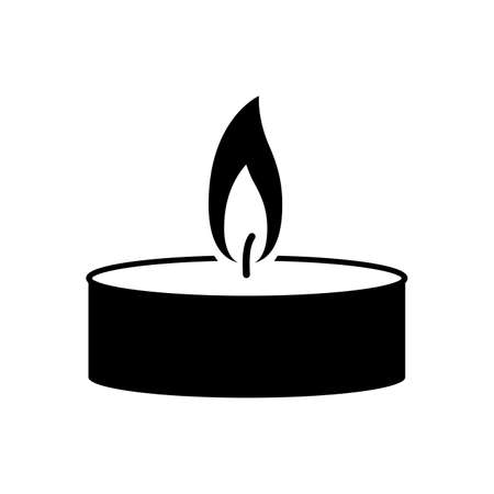 Candle icon. Isolated on white background. Vector illustration. 写真素材 - 155724568