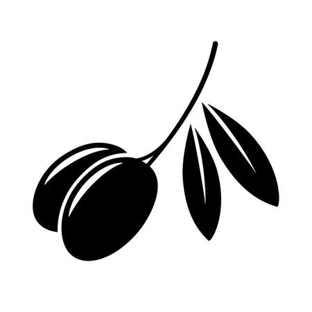 Olives icon. Isolated on white background. Vector illustration.  イラスト・ベクター素材