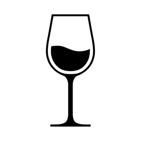 Wine glass icon. Isolated on white background. Vector illustration. 写真素材 - 156463433