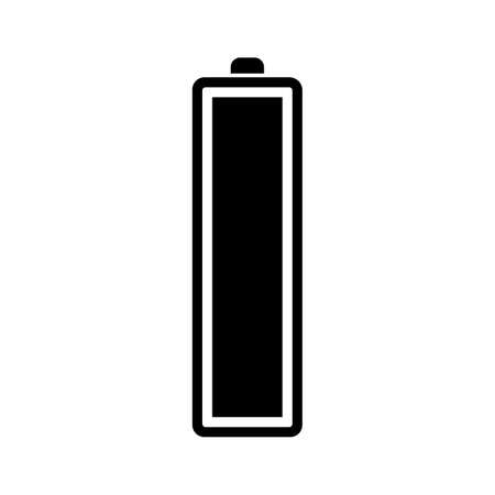 Full battery icon. Isolated on white background. Vector illustration.  イラスト・ベクター素材