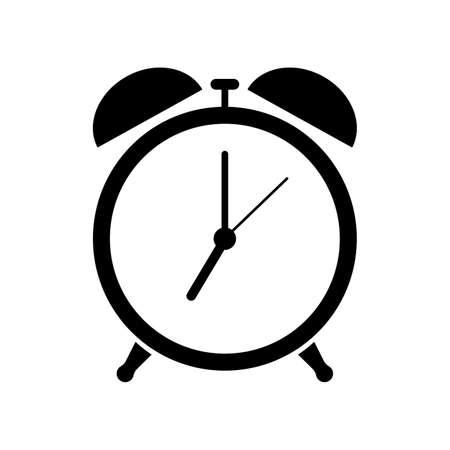Alarm clock icon. Isolated on white background. Vector illustration.  イラスト・ベクター素材