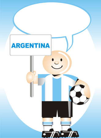 coup: Greeting postcard Argentinean for the soccer world coup
