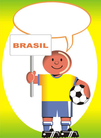 coup: Greeting postcard Brazilian for the soccer world coup Illustration