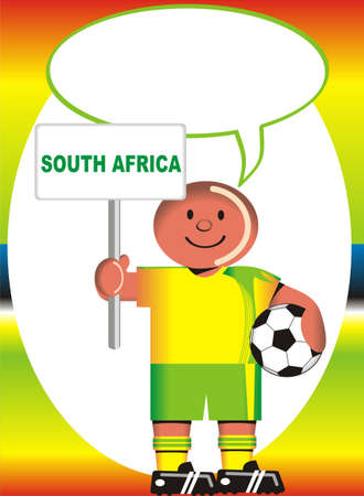 coup: Greeting postcard of South Africa for the soccer world coup Illustration