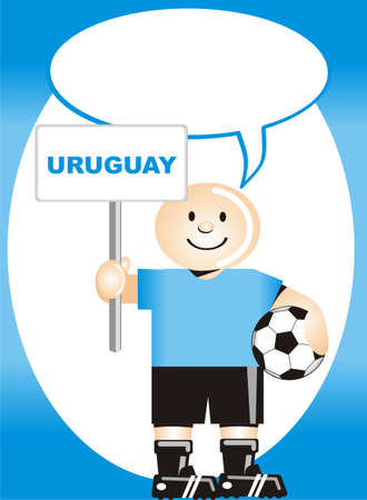 coup: Greeting postcard Uruguayan for the soccer world coup