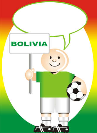 coup: Greeting postcard Bolivian for the soccer world coup