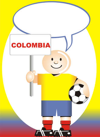 coup: Greeting postcard Colombian  for the soccer world coup Illustration