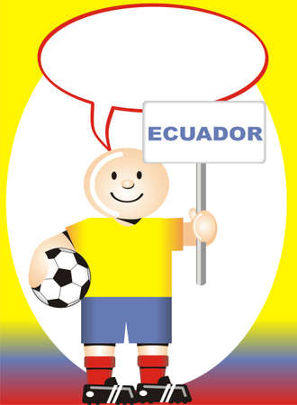 coup: Greeting postcard Ecuadorian for the soccer world coup