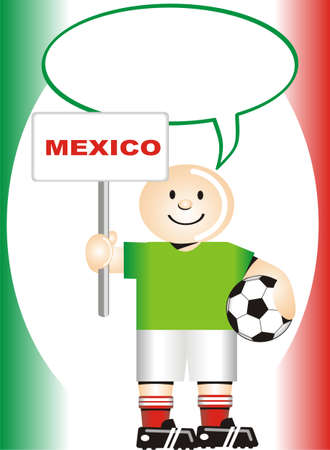 coup: Greeting postcard Mexican for the soccer world coup