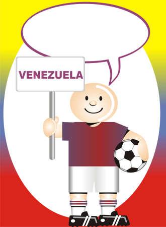 venezuelan: Postal de felicitaci�n de Venezuela para el golpe de Estado del f�tbol mundial Vectores