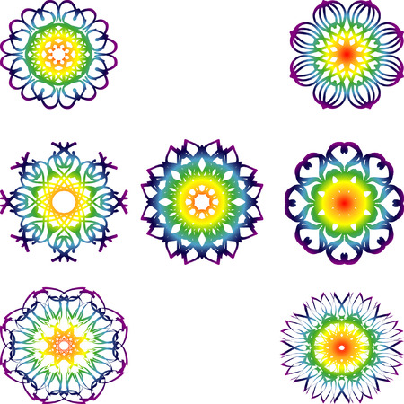 spiritual energy: Set of 7 chakras