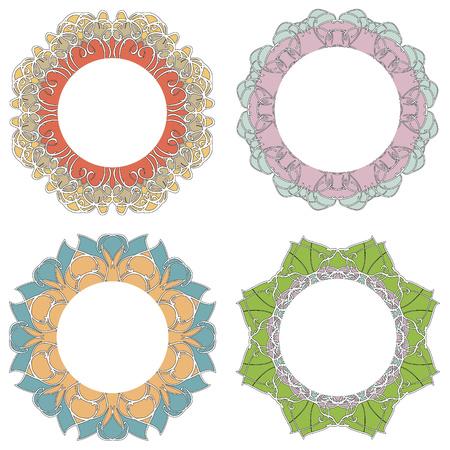 delicate: Delicate vintage, round frame. Set.