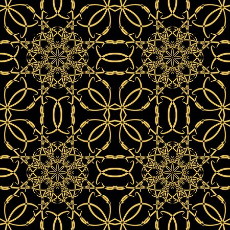 oriental vector: Vector seamless pattern in oriental style. Golden color.