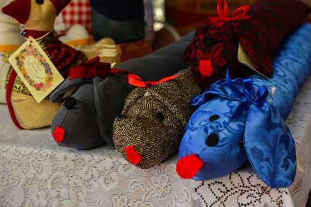 plush: Plush toy dogs at the Fair Stock Photo