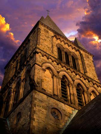 stomy: Chapel Against Dramtic Sky Stock Photo