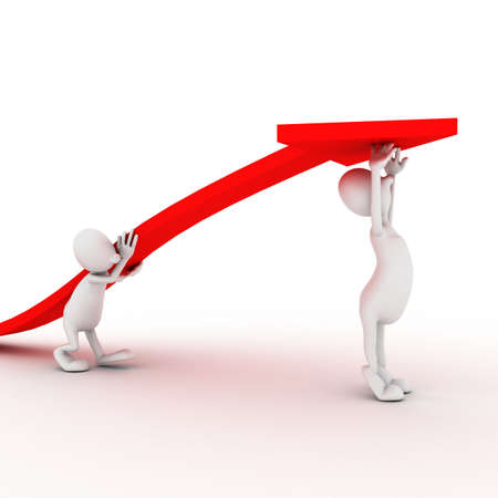 regress: Economic figures raised up arrow