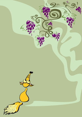 The Fox and the Grapes Vector